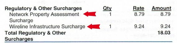 TelePacific surcharges