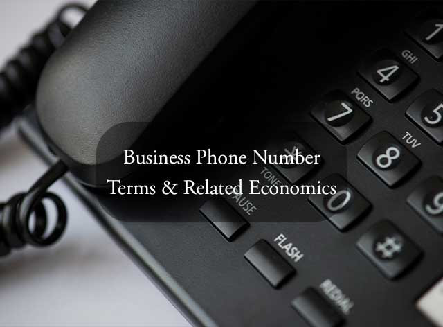 Business Phone Number Terms & Related Economics